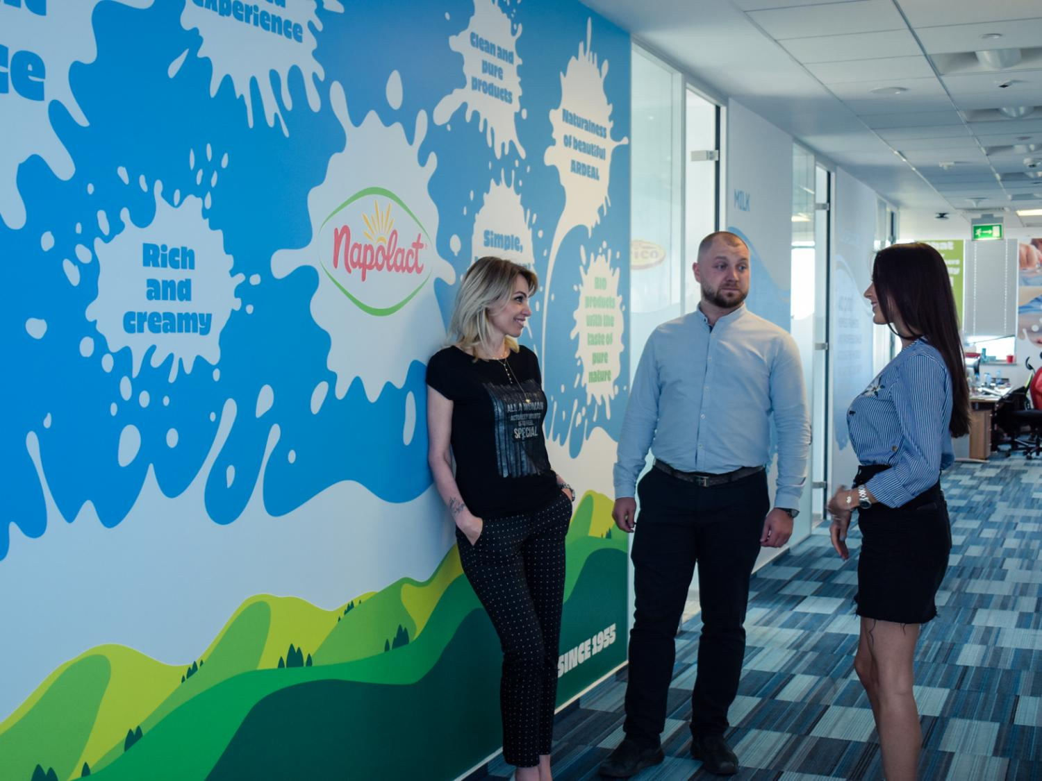 Employees in Romanian Office of FrieslandCampina